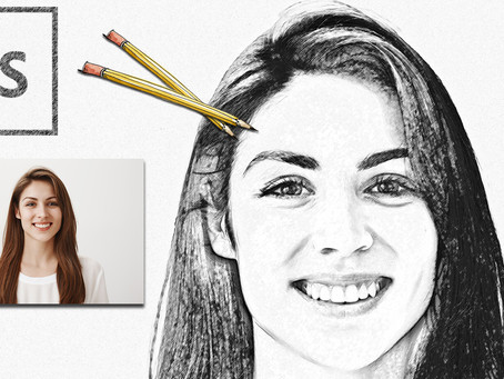 Pencil Sketch Effect | Photoshop Effect | Photoshop Tutorial