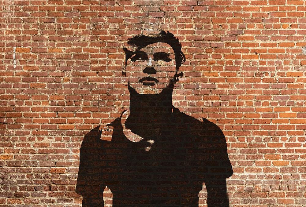 stencil graffiti wall effect photoshop