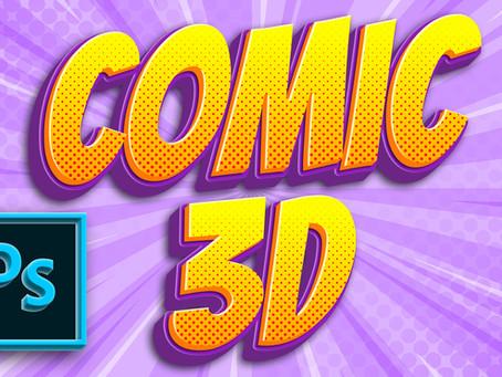Comic 3D Text Effect | Photoshop Tutorial