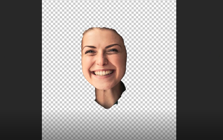Remove background and keeping only face in Photoshop