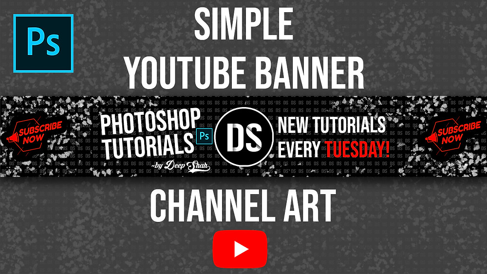 how to create banner for youtube channel in photoshp
