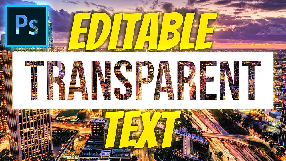 transparent text effect photoshop