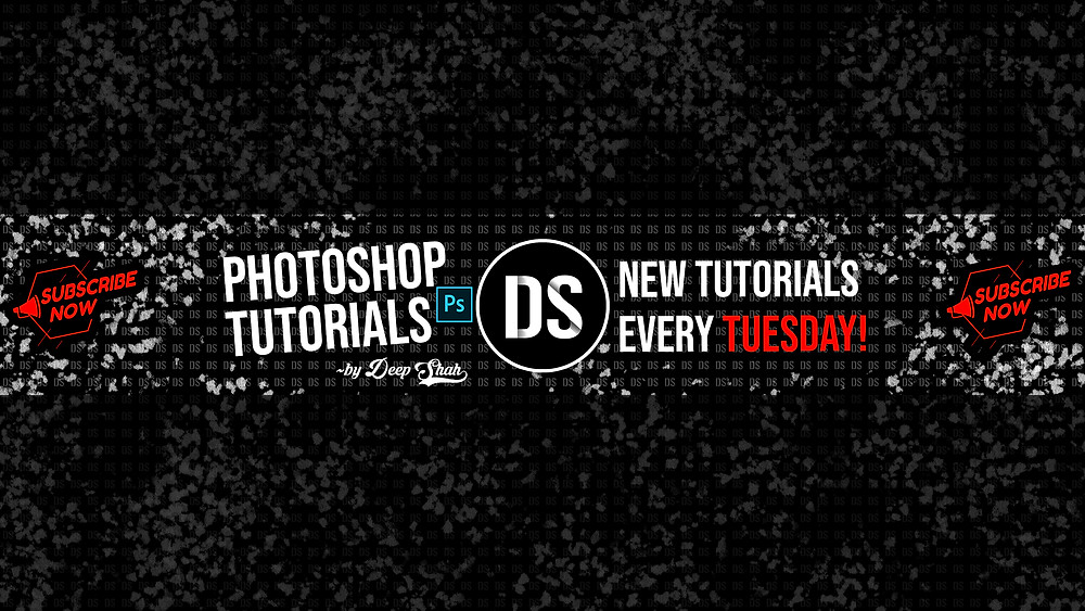 how to create banner for youtube channel in photoshop