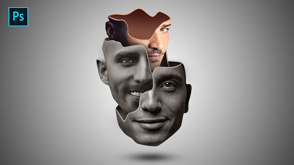 creative face manipulation effect in photoshop