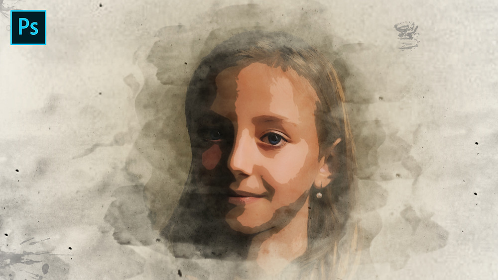 photoshop watercolor painting effect