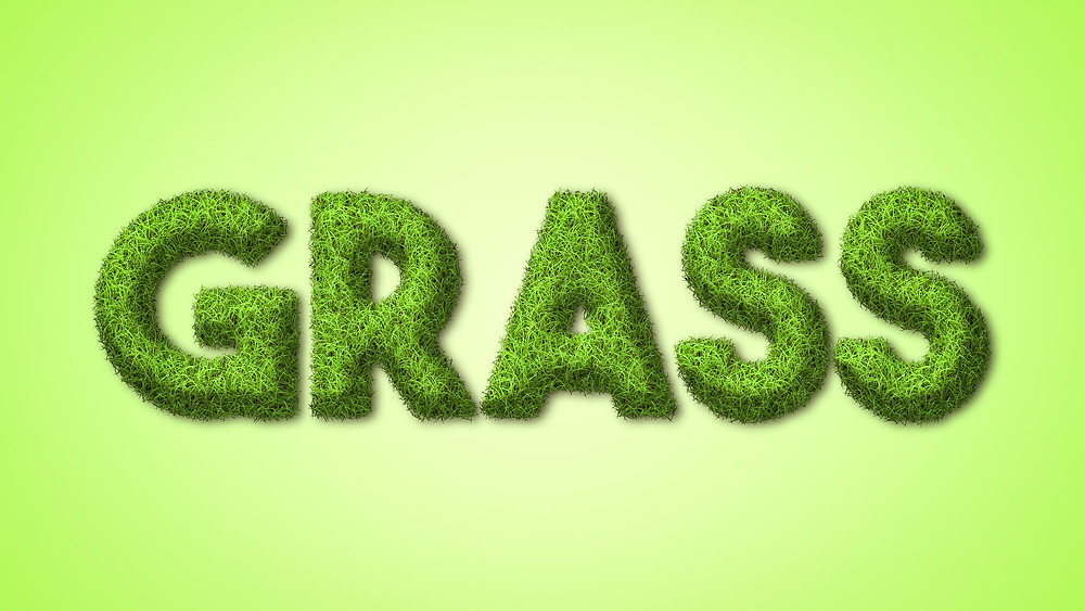 grass text effect in photoshop
