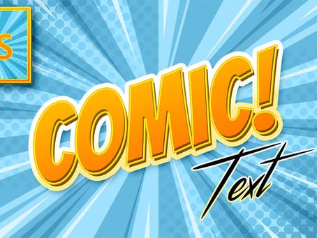 Comic Book Text Effect | Cartoon Text Effect | Photoshop Tutorial