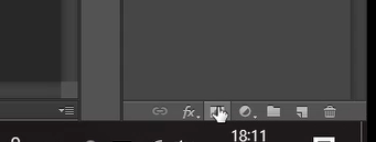 Add layer mask icon in Photoshop
