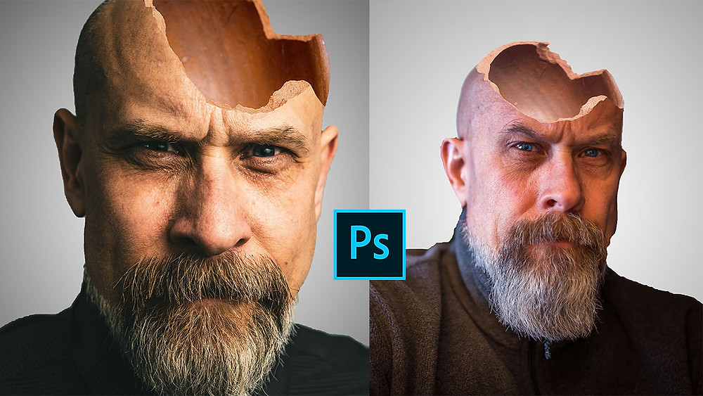 hollow head effect photoshop