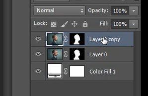 Press CTRL + J to create a duplicate of the layer in Photoshop