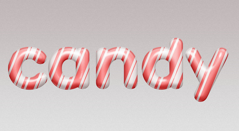 glossy candy text effect in photoshop