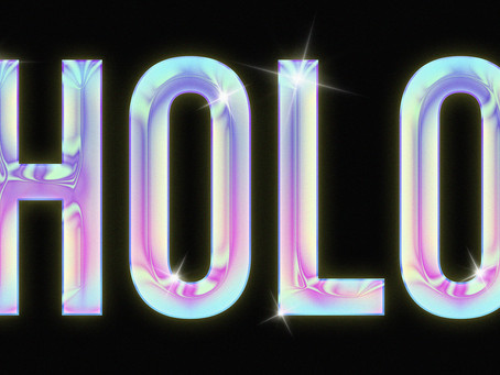 Holographic Text Effect | Photoshop Effect | Photoshop Tutorial