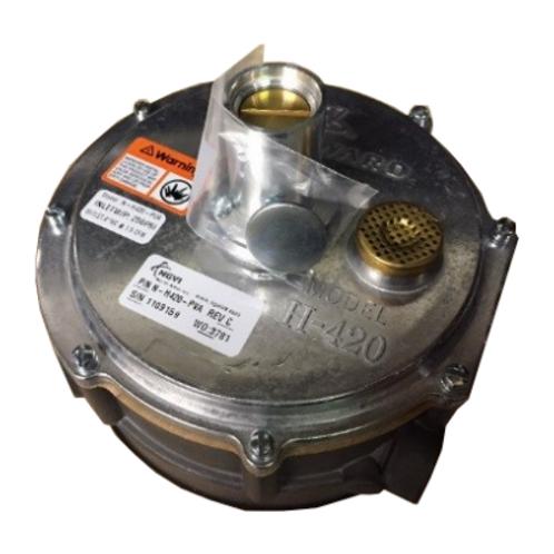 H420 Natural Gas Regulator, Adjustable Positive Pressure, Tamper Proof