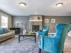 livingroom, fireplace, real estate, house for sale, blue chair