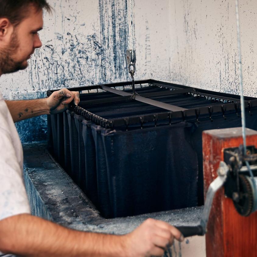 PAVOL DENDIS x MODROTLAČ RABADA: Upcycled Indigo Dyed Canvas