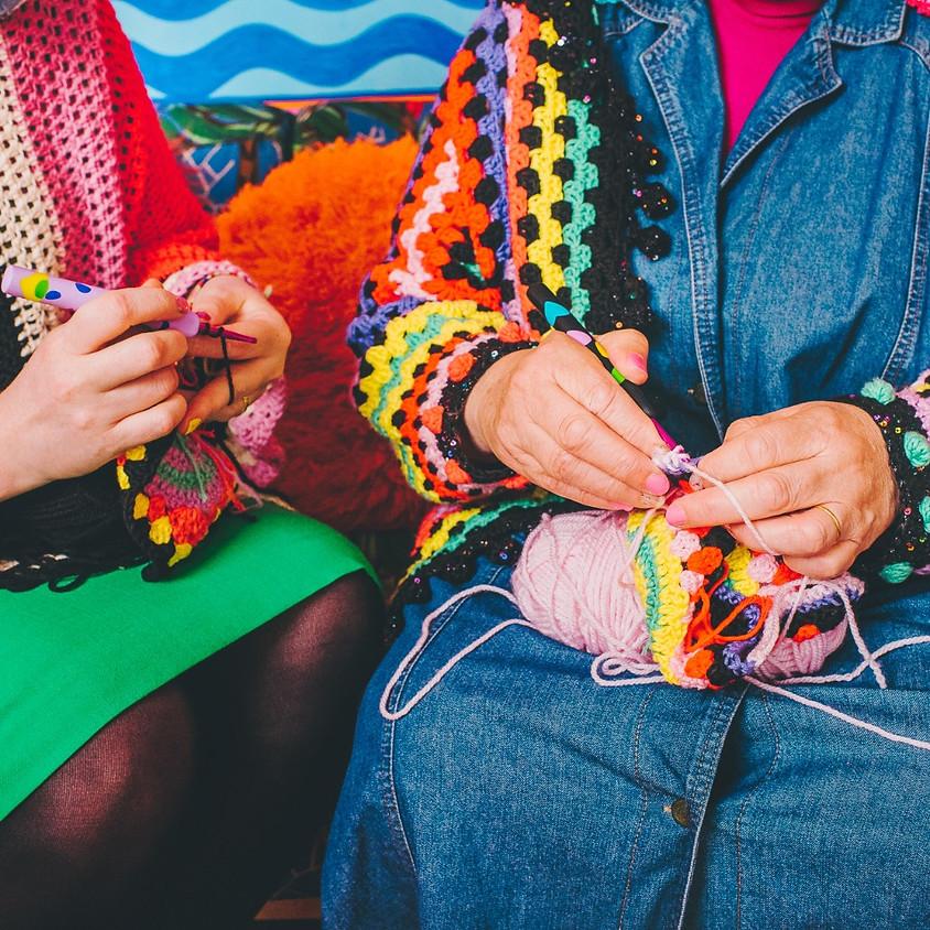 KATIE JONES: Patch it- making mini crochet sticker to repair your favourite piece!