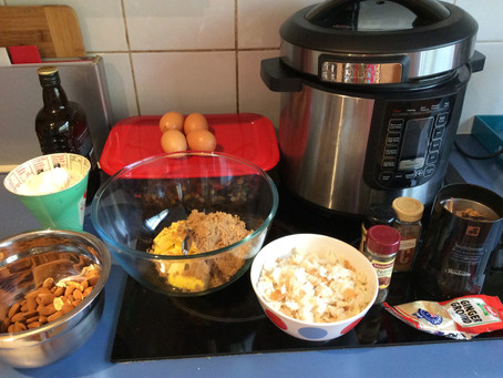 In the pressure cooker: Christmas pudding