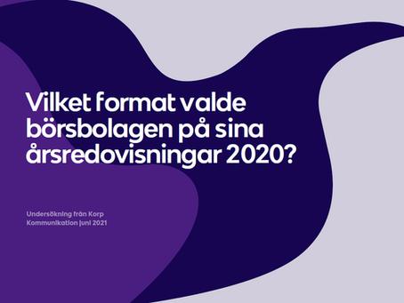 Dags att välja format för nästa årsredovisning? Så gjorde 332 börsbolag 2020