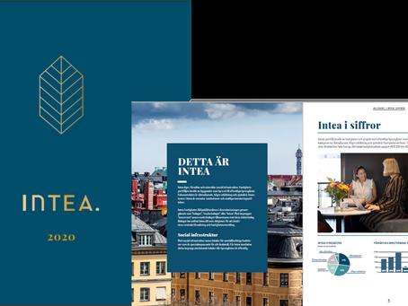 Inteas årsredovisning: Fastighetsbolag i elegant design
