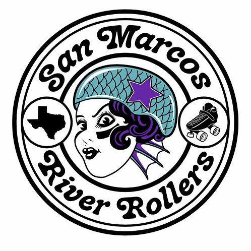"San Marcos River Rollers Sticker (3"")"