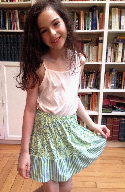 Green & Blue Flower Skirt