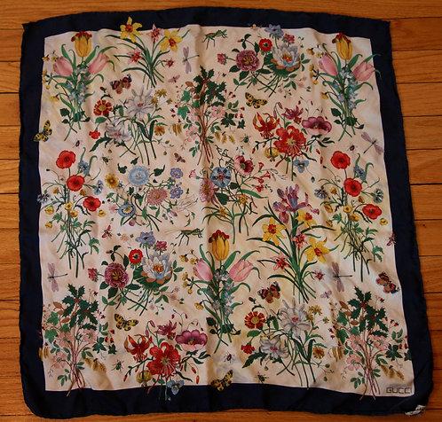 Silk Flower Scarf