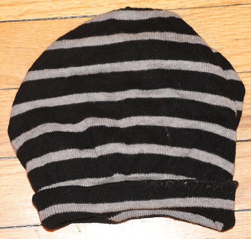 Black and White Striped Cap