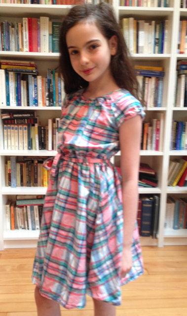 50's Plad Dress + Belt