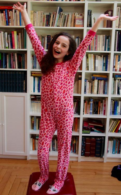 Pink Leopard Footie Pajamas