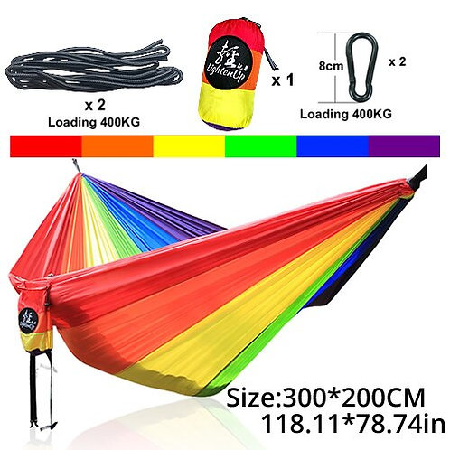 Hamack Rope Swing Chair Army Parachute Hammock Tent Camping