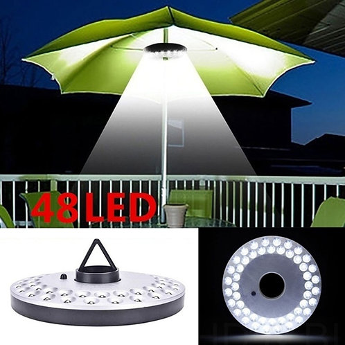 48 LED Lantern Poles Umbrella Light Portable Outdoor Camping Light