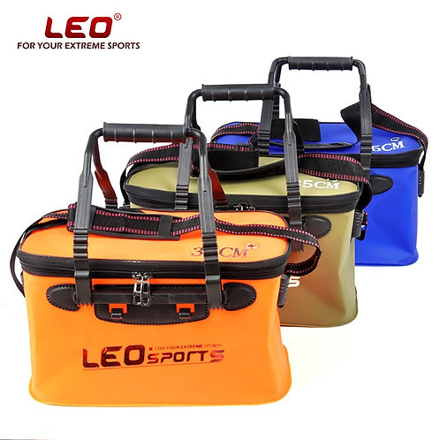LEO Portable Folding Fish Wear Bucket Outdoor EVA Fishing Tackle Boxes