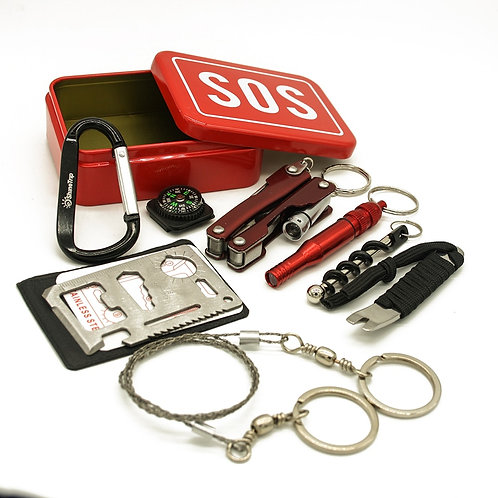 Survival Kit SOS  for Camping Hiking Tools Wine Opener Multifunction Tool Card