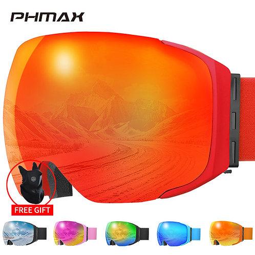 Ski Goggles Magnetic Men Women Winter Anti-Fog Snow Ski Glasses