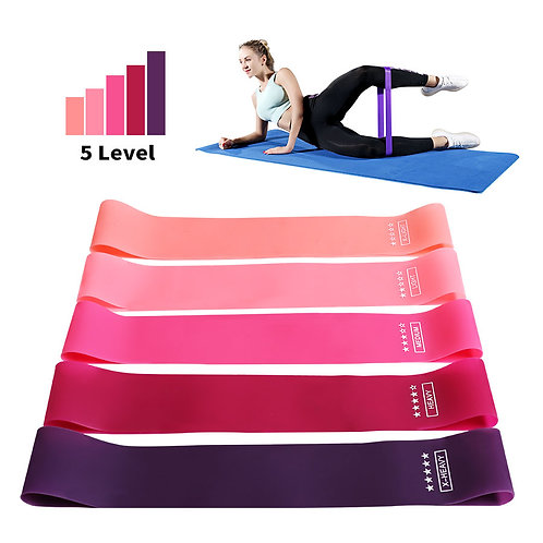 Training Fitness Gum Exercise Gym Strength Resistance Bands Pilates Sport