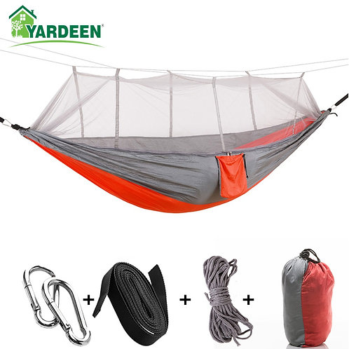 1-2 Person 260*140cm Camping Hammock Outdoor Mosquito Bug Net