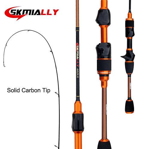 Skmially Carbon Ul Spinning Rod 1.8m 1.68m0.8-5g Ultralight Spinning Rods