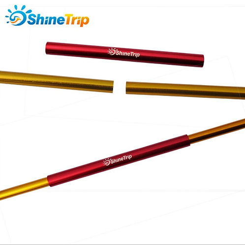 1PC Aluminum Alloy Tent Pole Repair Tube Single Rod Mending Pipe