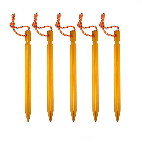 5pcs/Set 18cm Tent Peg Nail  Aluminium Alloy Tent Stake Rope for Outdoor Camping