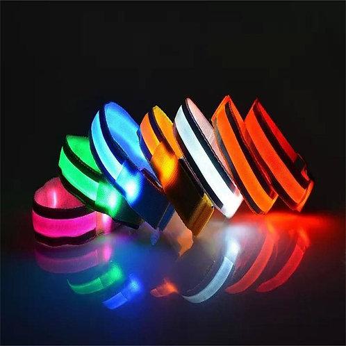LED Light Arm Armband Strap Safety Belt for Night Running