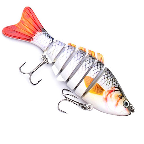 Fishing Wobblers Lifelike Fish Lure 7 Segment 10cm 15.6g Swimbait