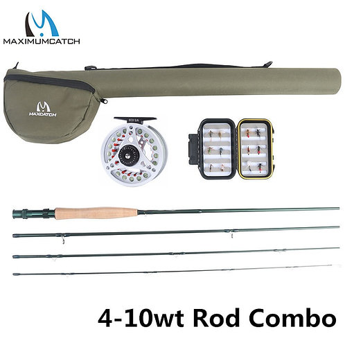 Maximumcatch Extreme 3-8wt Medium-Fast Carbon Fiber Fly Rod With Graphite Reel