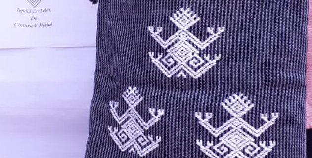 Bolsa con bordado de sapo
