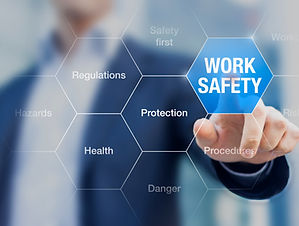 Businessman-presenting-work-safety-conce