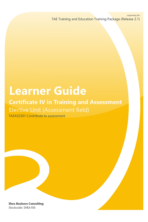 Contribute to Assessment – Learner Guide