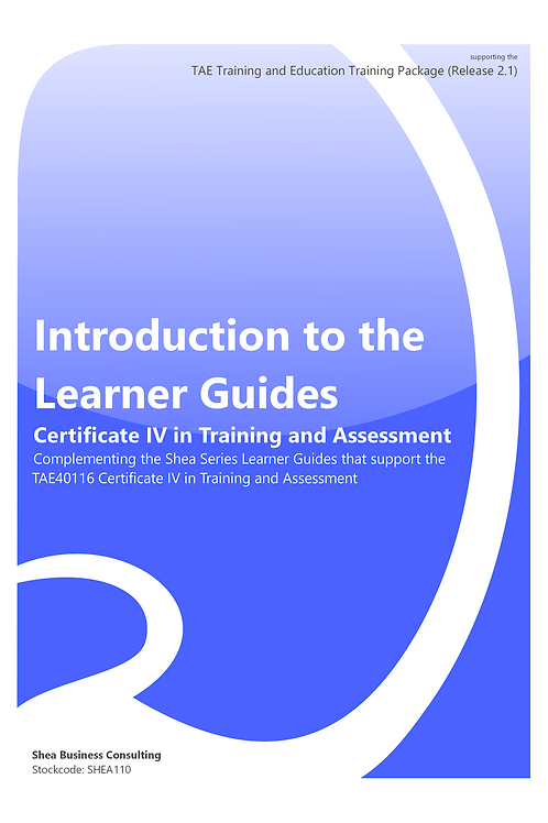 Introduction to the Learner Guides