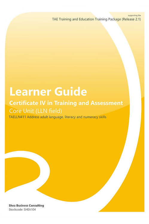 Address Adult LLN Skills – Learner Guide