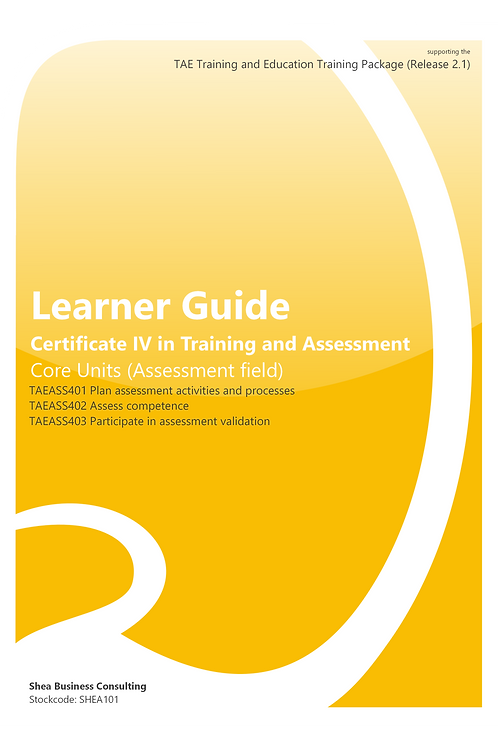 Assessment Field – Learner Guide