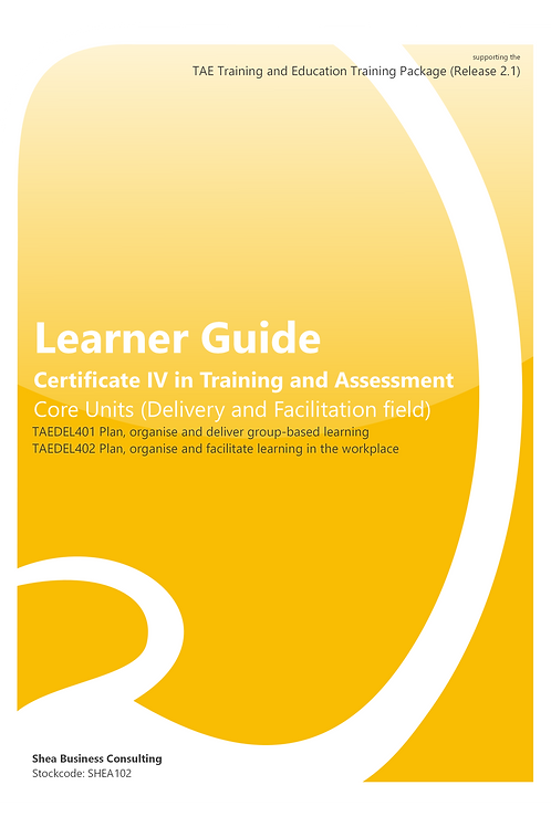 Delivery and Facilitation Field – Learner Guide