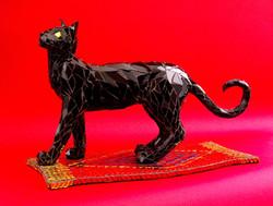 Black Cat on Persian Carpet  SOLD